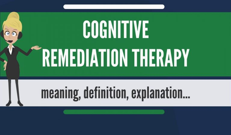 What is COGNITIVE REMEDIATION THERAPY? What does COGNITIVE REMEDIATION THERAPY mean?